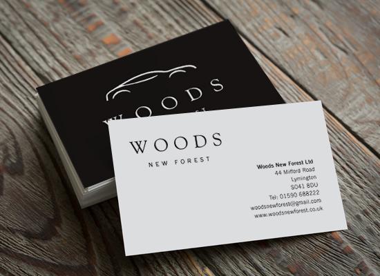 Woods New Forest logo design