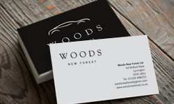 Woods New Forest logo and stationery design