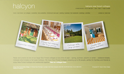 Halcyon Holiday cottages website design