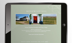 Monkwood Hill website design