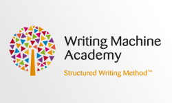 Writing Machine Academy logo design