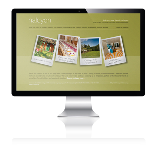 Halcyion Holiday Cottages website Design
