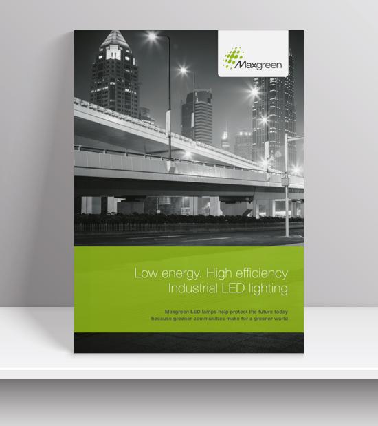 Max Green LEDs brochure design